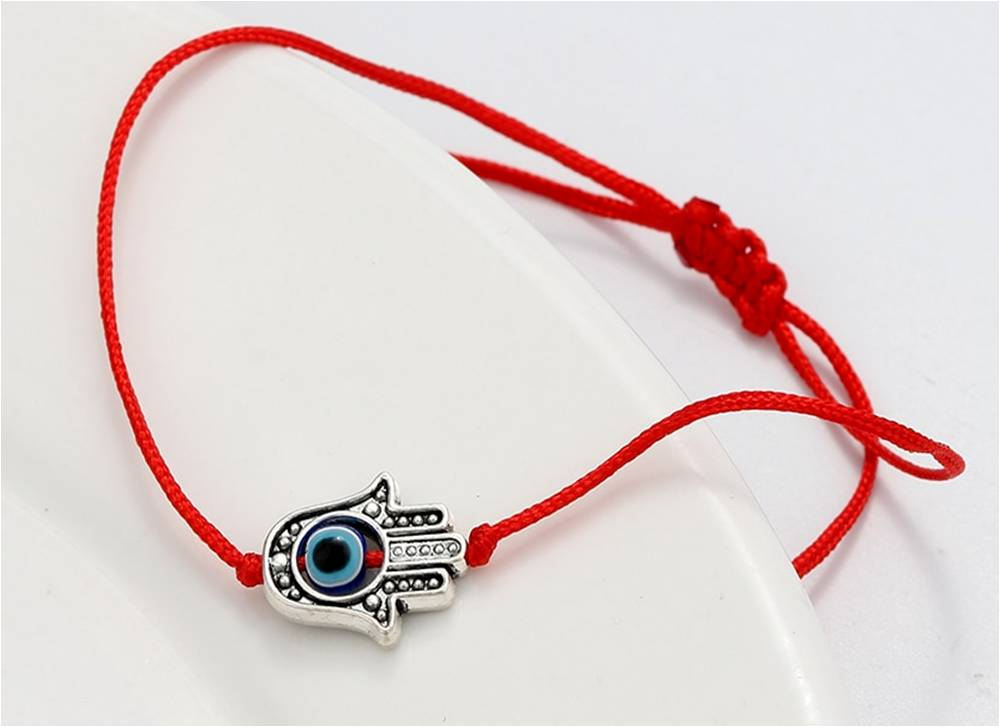 Mazel Red String Hamsa Evil Eye Bracelet
