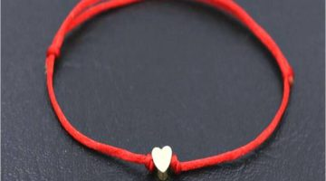 Mazel Red String Heart Bracelet