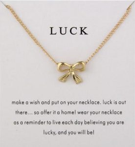 Luck Bow Necklace