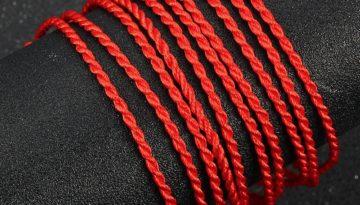 red string braded luck bracelet 2