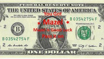Good Luck Dollar charity pass it on