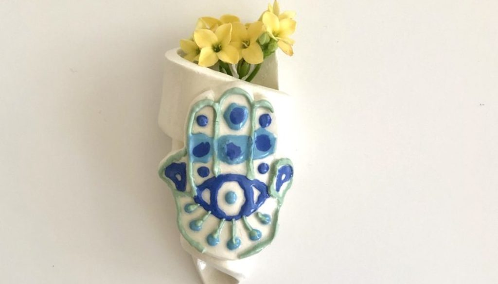 Hamsa Evil Eye Wall Hanging for Protection Luck and Blessing