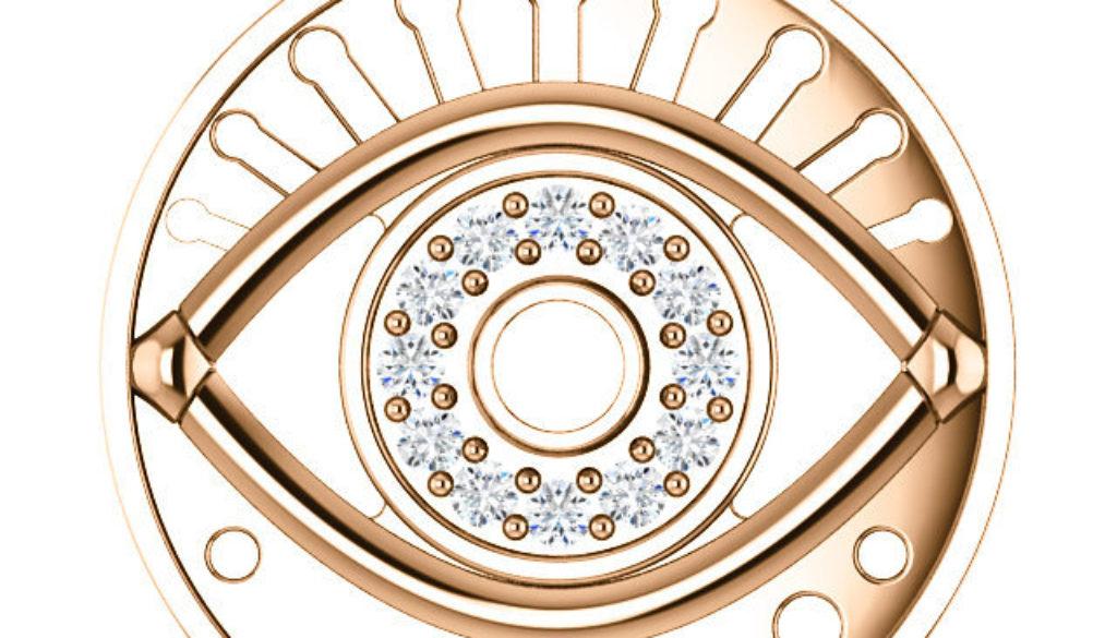 Evil Eye Diamond Pendant