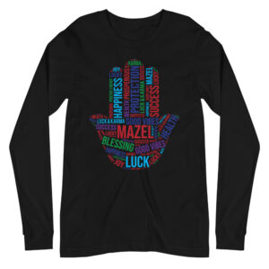 Hamsa Mazel Lucky Unisex Long Sleeve Tee