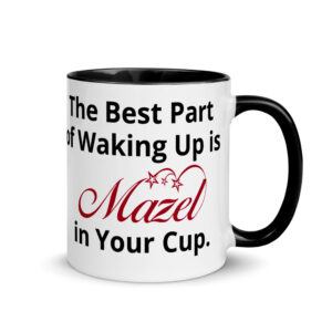 Mazel Mug with Color Inside