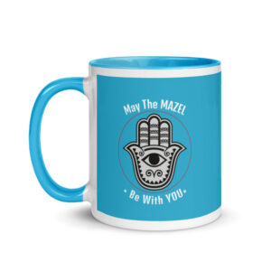 May The Mazel Be With You - Coffee Mug with Blue Color Inside