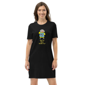 May The Mazel Be With You - Organic Cotton T-Shirt Dress